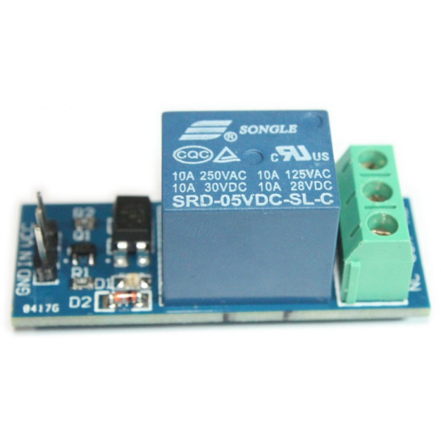 One Single Channel 1 Ch 12v Relay Board Module Controllable With 5v Switch Arduino